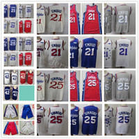 Cheap Wholesale Stitched Jersey Top Quality New Mens Red Blu...