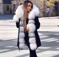 Новый стиль большой шерстяной воротник зимнее пальто женщины мода теплые толстые свободные пальто вскользь с капюшоном с капюшоном