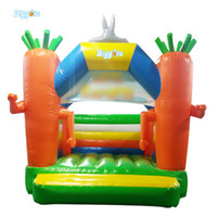 Forma de fábrica chinesa Forma Mini Trampoline Inflável Bounce Casa Bouncy Castelo para Crianças Jogo ao ar livre Indoor
