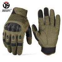 Сенсорный Экран Военные Тактические Перчатки Армия Пейнтбол Стрельба Airsoft Combat Противоскользящие Жесткий Кулак Полный Палец Перчатки Мужчины Женщины T191108