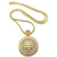 Hommes Hip Hop Bijoux Sautoir Chaînes d'or Slver Medusa Avatar Glacé Collier diamant Pece Pendentif Designer Colliers GB1289