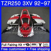 Kit negro rojo stock Para YAMAHA TZR250RR RS TZR250 92 93 94 95 96 97 245HM.29 TZR 250 3XV YPVS TZR 250 1992 1993 1994 1995 1996 1997 Carenado
