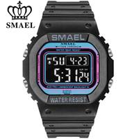 SMAEL Rectangle Digital Watches Men Sports Watch Military Army Camouflage Orologio da polso da uomo Orologio elettronico da uomo reloj hombre