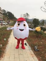 Dia das bruxas ovo branco Traje Da Mascote de Alta Qualidade Dos Desenhos Animados da casca de ovo de Anime personagem de natal Trajes de Festa de Carnaval de Natal