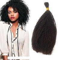 Menschliches Flecht-Bulkhaar für schwarze Frauen mongolische enge Afro verworrene lockige Bulk-Haar-Erweiterungen 1 Bündel FDSHINE
