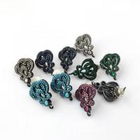 Многоцветный императорская корона серьги стержня пост с петлей вешалка CZ микро проложили для DIY женщин серьги выводы ER1044