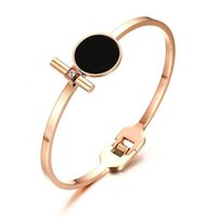 16MM Rose Gold Color Fashion Simple Lady' s Bangle Stain...