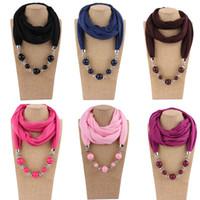 Atacado New Women Moda Beautiful Beads Pingente de Anel de jóias Colar Étnico Cachecol para Senhoras Melhor Presente