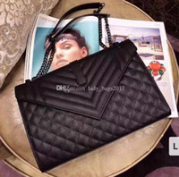 Mujeres Jumbo 31 cm x Forma grande Flap Cadena Bolsas de hombro Bolso Bolso Mujer Clutch Messenger Bag Crossbody Purse Shopping Tote
