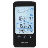 BALDR sem fio termômetro higrômetro Touch Screen relógio estação meteorológica com previsão de ícones