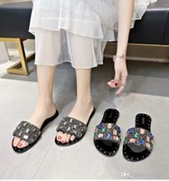 The word slippers women' s fashion outside 2019 summer n...