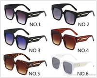 2020 Yeni 1074 Kare Çerçeve Güneş Gözlüğü Erkekler Ve Kadınlar Güneşlik Gözlük UV400 Büyük Çerçeve Marka Gözlük Kutusu Ile