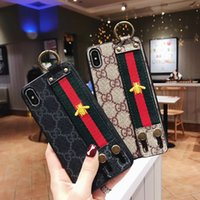 Luxury Phone Case With Wrist Band Embroidery for Iphone X XS...