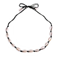 INS Hot Puka Shell Necklace Puka Shell naturale girocolli mano annodata Woven clavicola collana catena 2 colori all'ingrosso