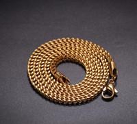 Золото 18 карат из нержавеющей стали, положительная и отрицательная цепь 3 мм из нержавеющей стали с цепочкой