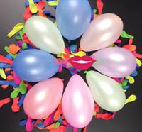 100pcs / lot No3 Petit Ballons Bombes eau Ballon fluorescent gonflable d'Apple Ballons d'eau Jeux d'enfants heureux de fête d'anniversaire Fournitures