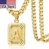 2020 letter Pendant a b c Charm Gold Necklace for Women Men ...