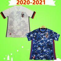 Japan Soccer Jersey 2020 2021 Maillot Japon Home Blue Away Bianco 20 21 Kit da calcio Camicia Honda Kagawa Okazaki Atom Atom Uniformi della squadra nazionale