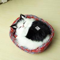 Детский Прекрасного Моделирование животные кукла плюш Sleeping Cats игрушка Elestronic зондирование чучела кот Дети подарок на день рождения Decorat