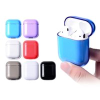 Ecouteur Protecteur Pour AirPods Etui Antichoc Transparent Couleur Air Pods Housse De Protection Transparent Hard PC Compatible avec Apple Airpods
