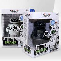 Silverlit Maze Breaker Maze Robot Kids Juguetes Seguir rutas Danza Récord de voz Música Música Control remoto Boys RC Robot Regalo de Navidad 09