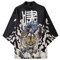 Januarysnow japanischen Kimonojacke Tiger Samuri Harajuku 2020 Hip Hop Männer Japan Style Street Jacke Sommer-dünne Kleidung lose Kimono