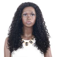 Derin Dalga 150 Yoğunluk Kısa ve uzun Dantel Ön insan saçı Peruk Öncesi Mızraplı Brezilyalı Su Kıvırcık Saç Frontal Peruk