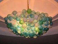 Lampade Modern Design Design Green Balls Murano Bocca Blown Lampadari in vetro illuminazione Light Fixture LED Lampadario e pendente