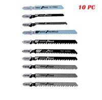 Grossist gratis frakt 10st 3 '' / 4 '' Kolstål Bi-Metal Steel 6/10/12/21 T-Shank Jigsaw Blade Set