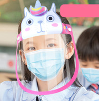 Moda Crianças Máscara Novos Meninos Meninas Dos Desenhos Animados Da Máscara De Gotas Crianças Anti Anti Voador Saliva Poeira Transparente Chapéus Lorna Óculos A3356
