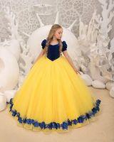 2020 nouvelles robes de bal de balles robes de filles robes de soirée à manches courtes pour anniversaire bébé fille organza fleur girl robes de mariée vestidos de