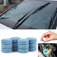 100 unids 1pc = 4l Agua Coche Gafas de parabrisas Auto Lavadora de vidrio Limpiador de ventanas Compacto efervescente Tablet Detergente Accesorios para automóviles