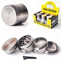 Grinder Grinder en alliage de zinc 40mm 4 pièces CNC dents filtre Grinder métal fumée de tabac Accessoire pour gros