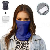 masques perméables à l'air doux masque sport en plein air de magie masque vélo turban solide protection solaire de pêche Bandanas avec 2 filtres FFA3974-8