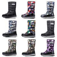 femmes design de luxe bottes hommes Camo demi-bottes d'hiver de neige botte mens Bottillons imperméables à l'eau plate-forme 36-46