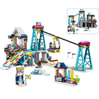632pcs Ski Resort Lift Cable Car Compatible Legoingly Friends For City Girls Diy Figuras Ladrillos Juguetes educativos para niñosMX190820