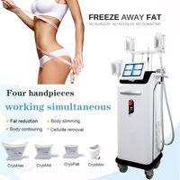 EE.UU. envío libre 4 piezas de mano criolipólisis eliminación de grasa de grasa congelación máquina de adelgazamiento crioterapia equipos criolipólisis dispositivo de belleza