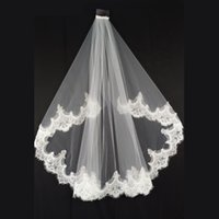 French Lace fingertip length Veil With Comb Soft Tulle Veils...