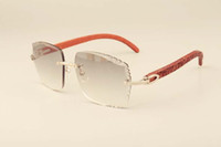 kazınmış lensler, özel özel oyma Yeni fabrika doğrudan lüks moda güneş gözlüğü 3524014 doğal oyma ahşap güneş gözlüğü,