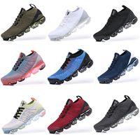 vapormax 2019 2018 vapormax Flyknit 2.0 دد الألوان حك الاحذية 2019 مصمم أحذية صفر النقي البلاتين الرجال النساء تنفس حذاء رياضة الثلاثي الرجال السود دوران