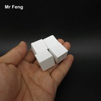Bianco 100 pezzi 2 cm Albero Gioco cubo di legno Gadget Rompicapo Comportamento comune Giocattoli educativi per bambini (Numero modello B282)