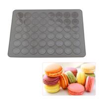 48 Kapazität Macarons Silikonmatte Backform Mandelmuffin Schokoladenkekse Silikonmatte Backengebäckwerkzeuge