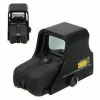 Matt nero tattico 1x22mm Holographic Reflex Ref Red Green Dot Sight Hunting Sight Sight Scope Luminosità regolabile.
