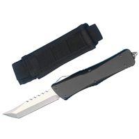 Förderung Hellhound-Blade Auto Taktisches Messer D2 Tanto Stein Waschen Finish-Klingen T6061 Griff im Freien Überlebensmesser EDC-Zahnrad