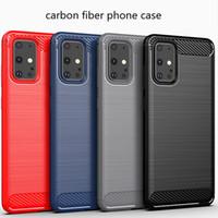 Carbon Fiber Texture телефон случае для Samsung S20 S20plus S20ultra Тонкий Доспех Матовый ТПУ чехол для телефона самсунг A51 A71 A81 A91