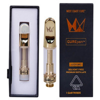 Cure Pen West Coast Curepen Carrinhos Vape cartuchos de 1,0 ml Curepen Vape Carrinhos Grosso Oil 510 Tópico vazio vidro tanque cartuchos de Embalagem