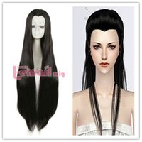 Beauty Tips 100cm Long Black Straight Ancient Maple Widow&#0...