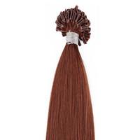 500g packung U Nagelspitze vorgebundene Fusion Haarverlängerungen Körperwelle 500 strands pack Keratin Stick Brasilianisches Menschenhaar Braun Farbe 33 #