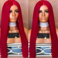 Free Shipping Natural Hairline Lace Front Synthetic Wig Stra...