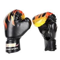 1 Çifti Desen Çocuklar / Çanta Punch Eğitim Aile Eşleştirme Dövüş eldiveni için Audlts Eğitim Boks Eldivenleri